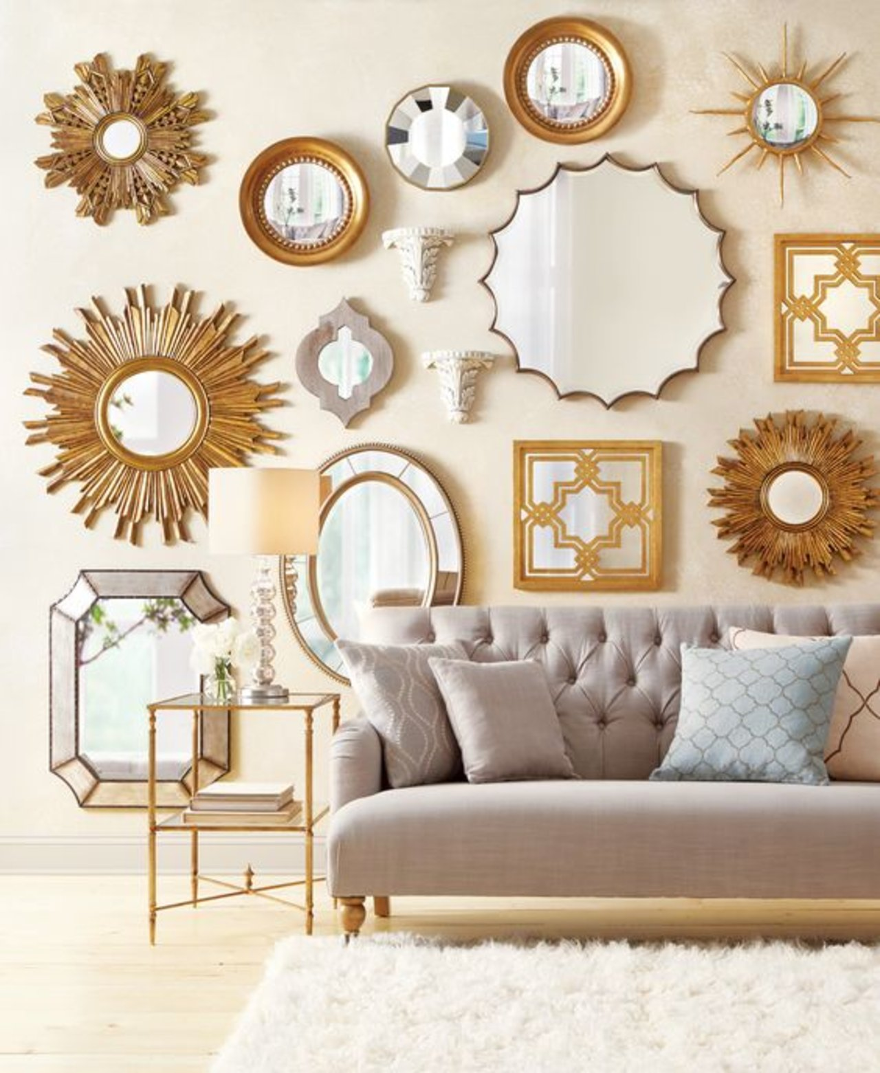 Wall decor 10 best mirror decorating ideas for your room maximize your living room 39 s style for Decorative ideas for living room walls