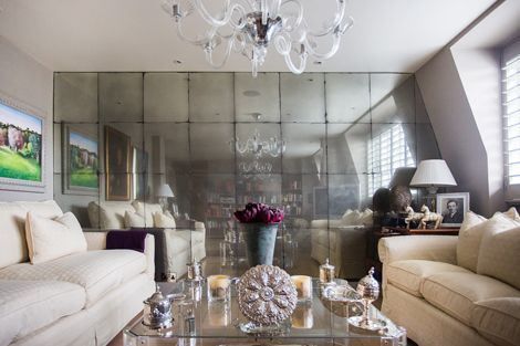 Another Way To Decorate The Living Room Wall Is Entire With Mirrors Or Rather Design It A Mirrored Tile