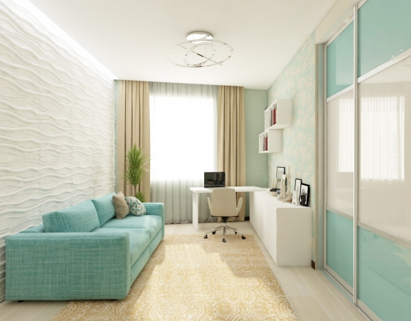 Soft and sweet as candy. New Guest Room interior design.