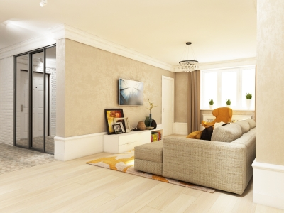 Apartments in beige