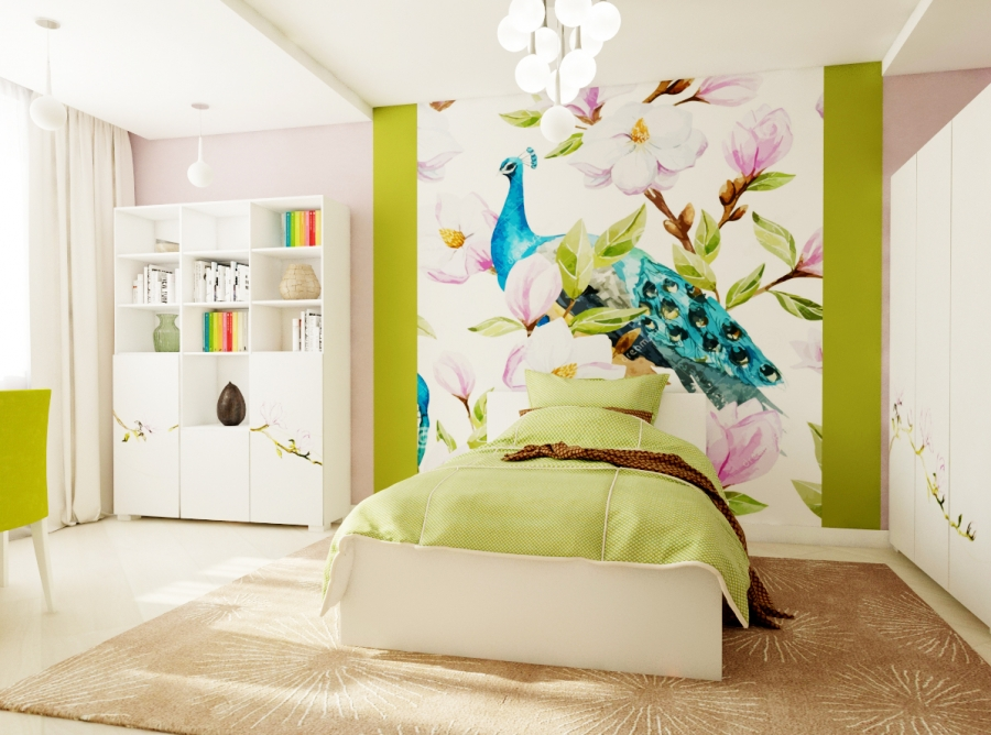 Bedroom interior design for young girl