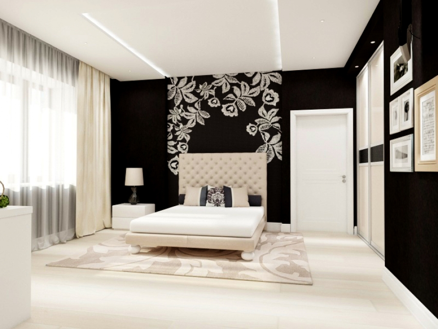 Black & White Bedroom for a Teenager