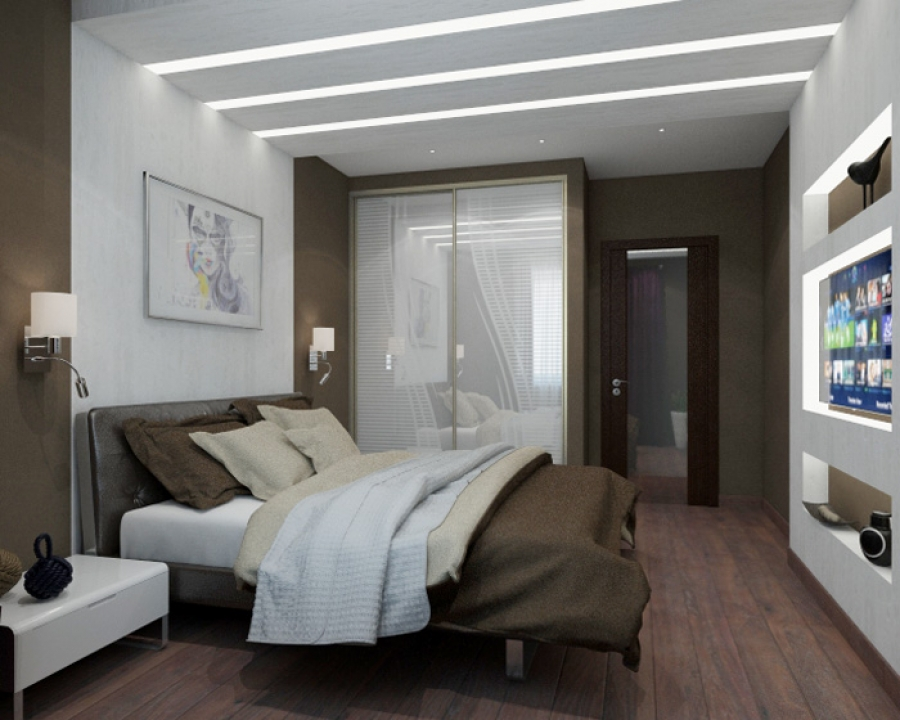 Modern Bedroom Design in Chocolate Colors