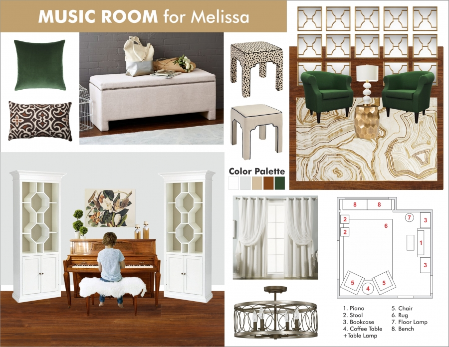 Piano Room Interior Design
