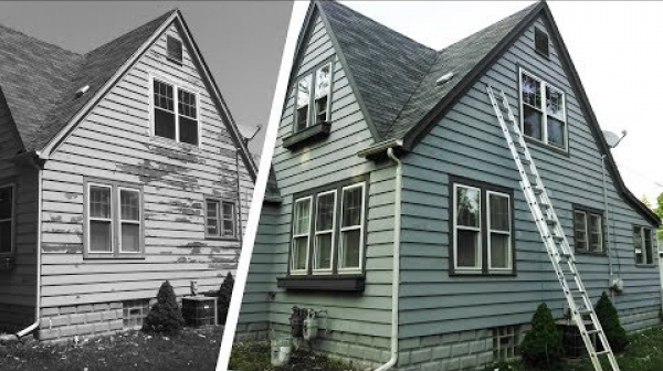 Old House Becomes New - Exterior Painting
