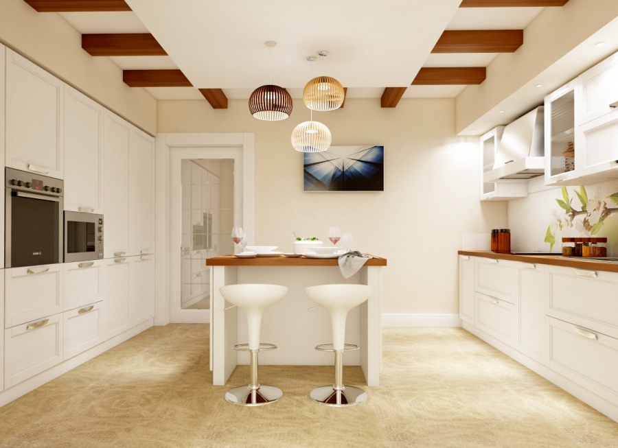 Traditional Kitchen Design with Wood Elements